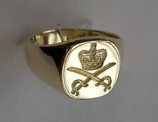 New 9ct Gold ROYAL ARMY PHYSICAL TRAINING CORPS RAPTC Seal Style Signet Ring