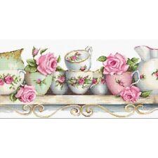 Cross Stitch Kit Tea cups Luca-S Point de croix Punto de cruz
