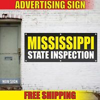 MISSISSIPPI STATE INSPECTION Advertising Banner Vinyl Mesh Decal Sign REPAIR NOW