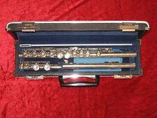 """Gebrauchte Querflöte; bezeichnet mit: """"Pearl - NC-96ES"""" + original Koffer"""