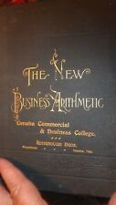 1900 edition The New Business Arithmetic -treatise on commercial ommunications