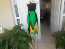 Sexy Dress Split front  Jamaican Color Tie Dye Handmade Size M - 3 XL UK 12-18