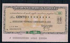 MINIASSEGNI: BANCO DI NAPOLI - ASS.PROV.COMM.LECCE 1.3.76 - CIRCOLATO