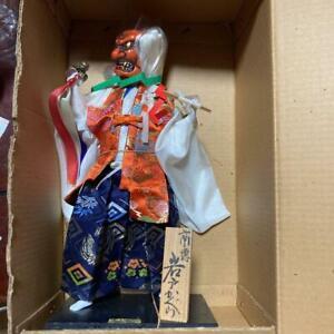 Oni Ogre Kagura Doll Japanese Antique Figure Kimono Okimono Figurine Old Japan