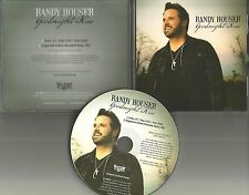 RANDY HOUSER Goodnight Kiss PICTURE DISC 2013 PROMO Radio DJ CD single USA MINT