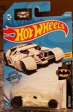HOT WHEELS DC - THE DARK KNIGHT BATMOBILE (WHITE) - BATMAN 4/5.