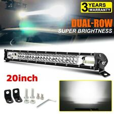 "12D Dual Row Slim 20"" LED Light Bar 300W Driving Offroad Flood Spot Combo Beam"