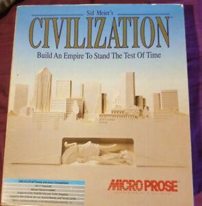 "PC IBM CIVILIZATION BIG BOX 3.5""  VINTAGE COMPUTER GAME MICROPROSE"