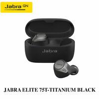 Jabra Elite 75t Titanium Black Wireless Earbuds w/ Portable Charging Case