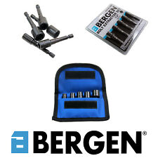"BERGEN Tools 5pc 1/4"" Hex dr, Damaged Bolt Nut Extractor Set Twist Sockets 2591"