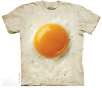 Fried Egg T-Shirt by The Mountain. Food Farm Sizes S-5XL NEW