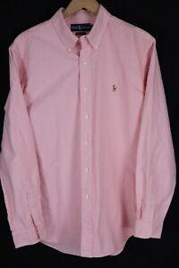 Ralph Lauren Mens sz XL Pink Oxford Long Sleeve Classic Fit Shirt