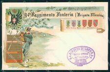 Militari Reggimentali 94º Reggimento Fanteria Brigata Messina cartolina XF5702