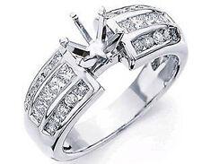 0.80 Ct Round Princess Diamond Semi Mount Engagement G VS2 Ring 14k Gold White