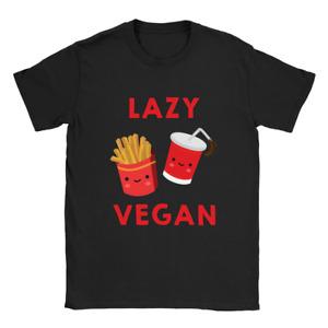 Lazy Vegan Mens T-Shirt Funny Gift Fast Food Present
