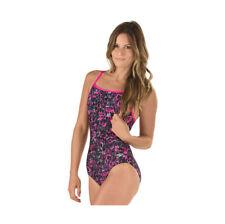 NWT Speedo Fit Swimsuit 1 one piece Sz 12 Power Pink
