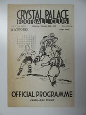 More details for crystal palace v watford | 1939/1940 | war league | 28 oct 1939 | uk freepost