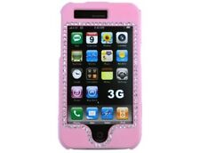 Diamond Rubberized Case Pink For Apple iPhone 3G S