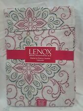 "Lenox: 60""×120"", Seats 10-12, multi colored Reds and Greens Tablecloth"