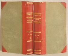 1803 DISCOURS SUR L'HISTOIRE UNIVERSELLE PAR BOSSUET CUIR LIE Francaise 2 VOLS