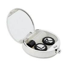 Mini Contact Lenses Lens Case Holder Box Portable Travel Kit with Mirror