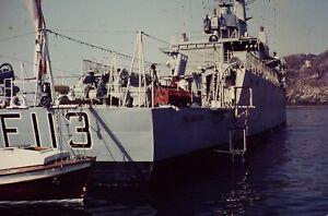 4 x 35mm Colour Slides - HMS Falmouth Frigate F113 - 1980s I Think