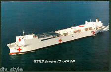 USNS Comfort T-AH 20 postcard hospital ship 100% donation to American Red Cross
