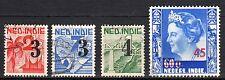 Dutch Indies - 1947 Definitives overprint new values - Mi. 338-41 VFU