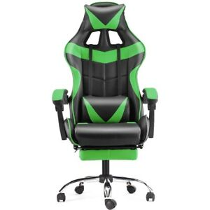 Computer Gaming Chair Swivel Highback Ergonomic Racing Leather Office Green New