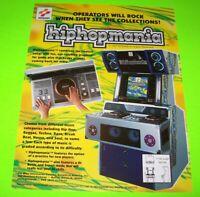 HipHopMania Arcade Game FLYER Original Konami 1997 Promo Artwork Boom Box Music