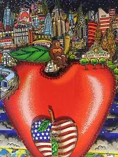"CHARLES FAZZINO: Original 3d ""Center of the apple"", signé, A/P, + Rizzi PIN"