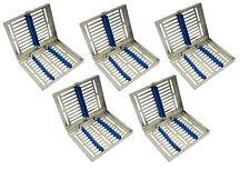 5 x 10er Instrumentenkassette Sterilisations-Kassette  Container Wash Tray Steri