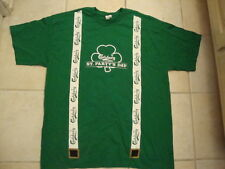 CARLSBERG Beer St. Patrick's Day suspenders style Men's Adult Size T Shirt XL