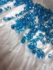 5mm Aquamarine Cubic Zirconia Round Cut Loose Gemstone AAAAA lot of 10 stones
