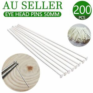 100 x Strong Stainless Steel Eye Pins 20g 0.8mmThick x 42mm