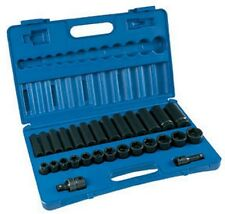 28-Piece 1/2 in. Drive 6-Point SAE Standard and Deep Impact Socket Set New!