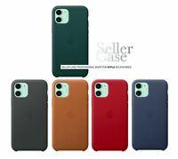 Originale Apple Custodia Pelle Per iPhone 11 / 5 Colori Ufficiali