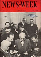 1935 Newsweek August 17-Social Security begins;Normandie Crew walks out;S Temple