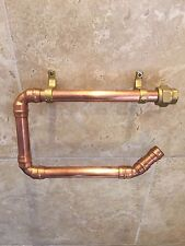 Industrial Copper Pipe & Brass Toilet Roll Holder - Handmade To Order