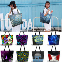 Women Shopping Shoulder Bag Beach Tote Hand Bag Polyster Reusable Grocery Bag