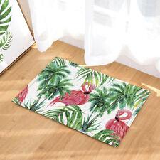 Flamingo Tropical Coconut Tree Non-Slip Outdoor Indoor Front Door Mat bathroom