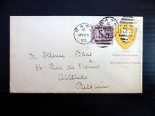 """GB 1892 """"Alfred Smith"""" Bath Advertisement Cover to Belgium NB500"""