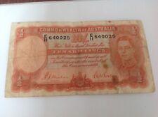 10 Australia Shillings banknote. Sig Sheehan & Mcfarlane