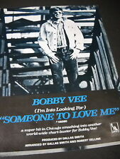 Bobby Vee wants Someone To Love Me 1969 Promo Poster Ad