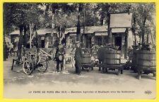 cpa RARE 75 - FOIRE de PARIS en 1917 MACHINES AGRICOLES Charrues Préssoirs Animé