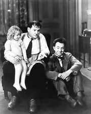 PACK UP YOUR TROUBLE scene still with little girl LAUREL & HARDY - (b476)