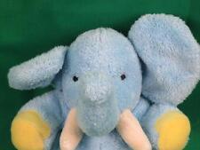 CARTER'S BABY BLUE YELLOW HAND RATTLE ELEPHANT  INFANT NURSERY PLUSH STUFFED