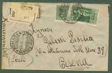 ERITREA-AFRICA ORIENTALE ITALIANA Raccomandata del 6.6.1938 da Asmara per Cesena