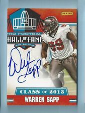 WARREN SAPP 2013 PANINI HALL OF FAME CLASS OF 2013 AUTOGRAPH AUTO