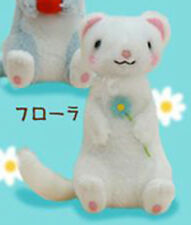 Gokigen Ferret 4'' White Plush Key Chain Anime Manga NEW